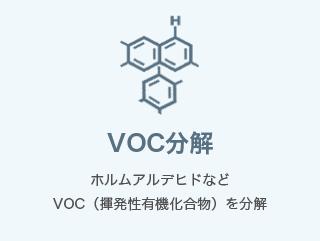 VOC分解 ホルムアルデヒドなどVOC(揮発性有機化合物)を分解